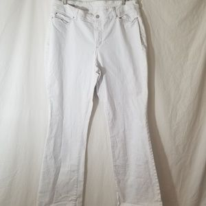 Ann Taylor   White Curvy Fit Jeans